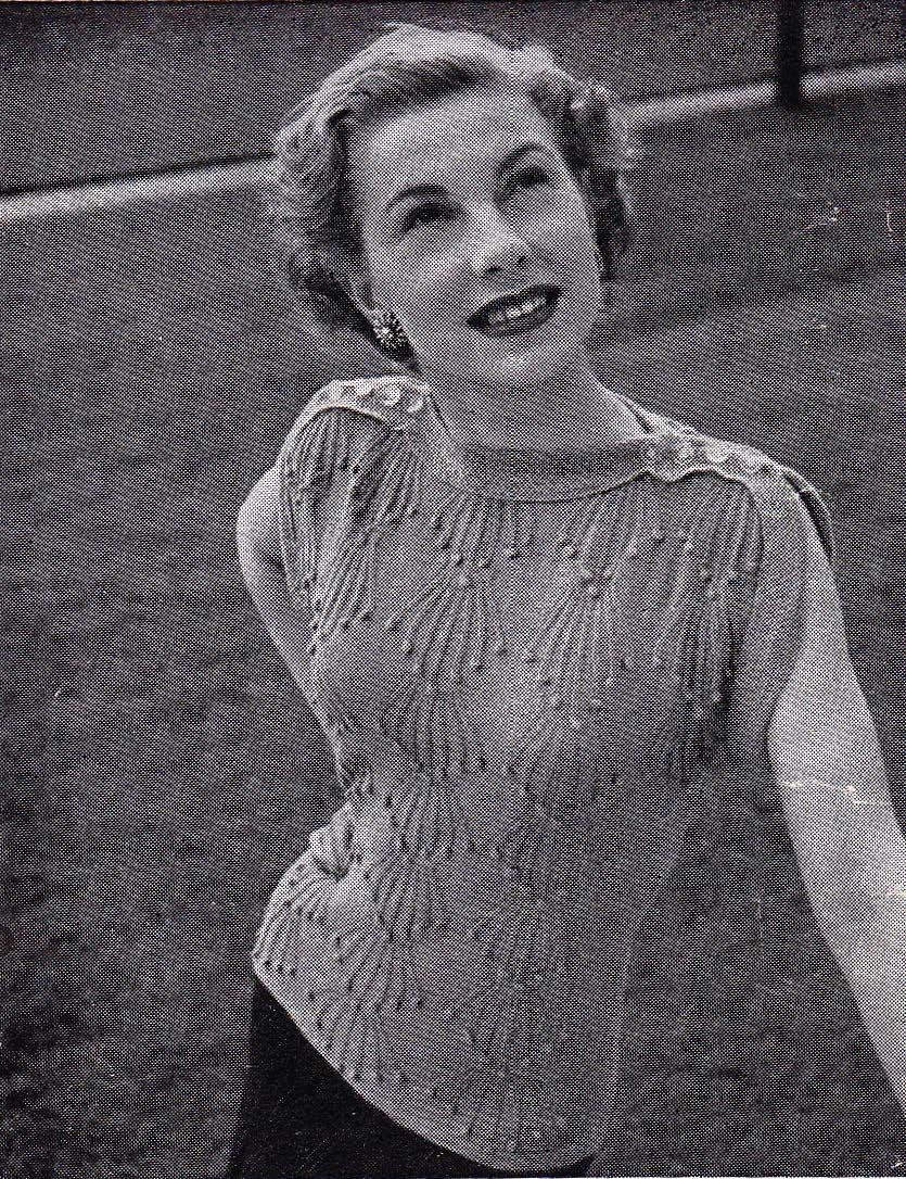Free Vintage Knitting Patterns To Download : Stitchcraft Freebie: Bobble Stitch Jumper - zilredloh