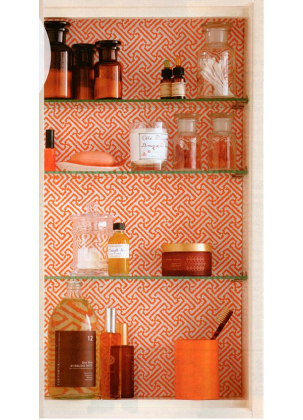 Colorful cabinet back