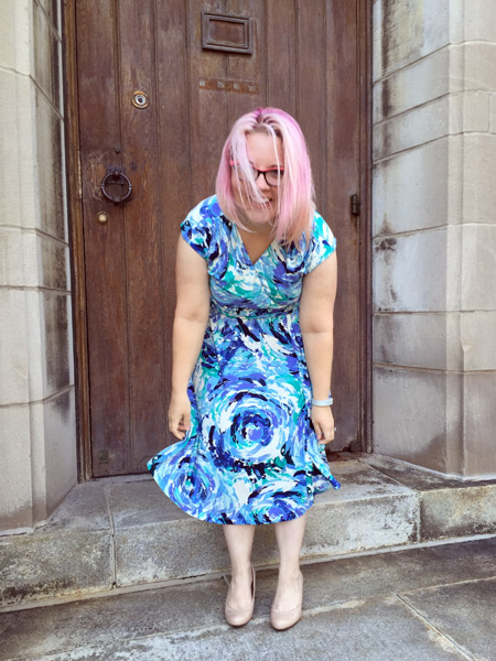 Blue Swirls Dress