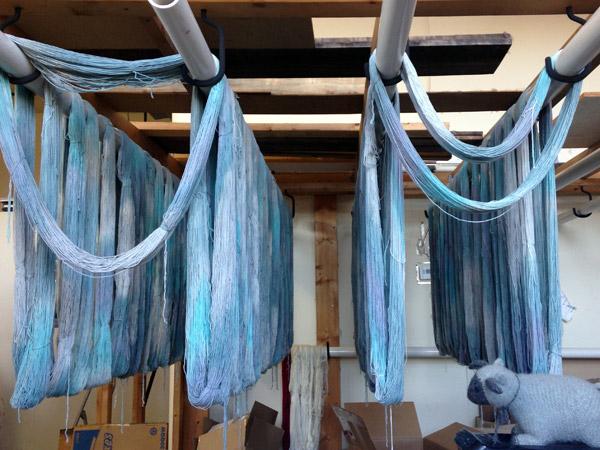 Freshly Dyed Yarn